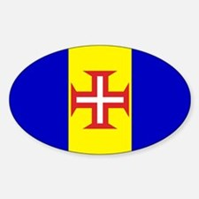 Madeira Flag Oval Decal