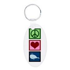 Peace Love Whales Keychains