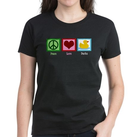 Peace Love Ducks Women's Dark T-Shirt