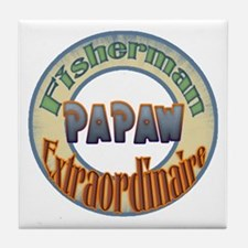 FISHERMAN PAPAW Tile Coaster