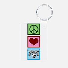 Peace Love Rams Keychains