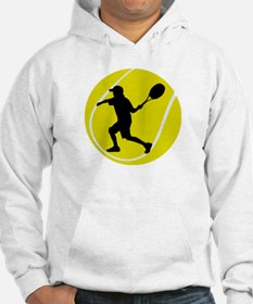Silhouette Tennis Player Gift Hoodie