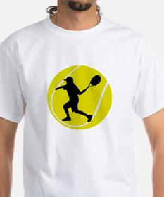Silhouette Tennis Player Gift Shirt