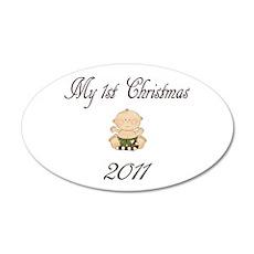 1st Christmas Boy 2011 22x14 Oval Wall Peel