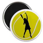 Women's Tennis Silhouette Magnet