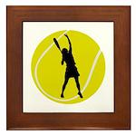 Women's Tennis Silhouette Framed Tile