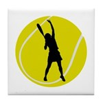 Women's Tennis Silhouette Tile Coaster