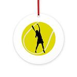 Women's Tennis Silhouette Ornament (Round)