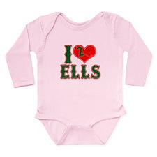 I Heart Ells Long Sleeve Infant Bodysuit