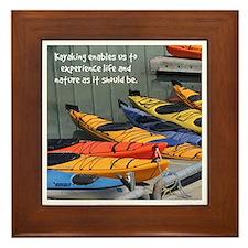 Kayakgirlz Framed Tile