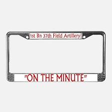 1st Bn 37th FA License Plate Frame