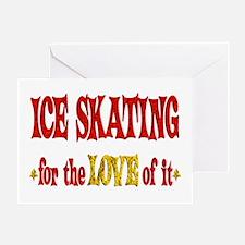 Ice Skating Love Greeting Card