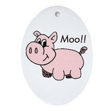 Piggy Oval Ornament