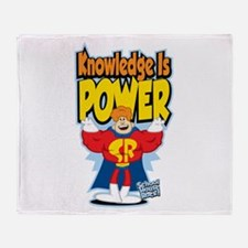 Knowledge Is Power Throw Blanket