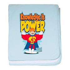 Knowledge Is Power baby blanket