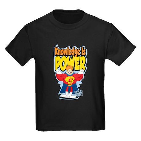Knowledge Is Power Kids Dark T-Shirt