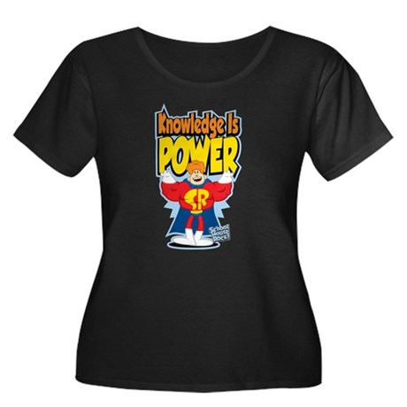 Knowledge Is Power Women's Plus Size Scoop Neck Da