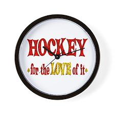 Hockey Love Wall Clock