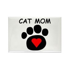 Cat Mom Luv Rectangle Magnet