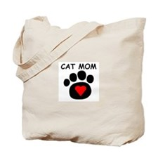 Cat Mom Luv Tote Bag