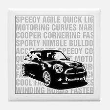 R56 Mini Words Descriptive Tile Coaster