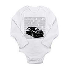 R56 Mini Words Descriptive Long Sleeve Infant Body