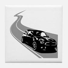 R56 Mini on Winding Road Tile Coaster