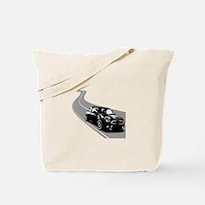 R56 Mini on Winding Road Tote Bag
