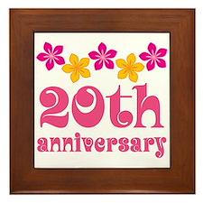 20th Anniversary Tropical Gift Framed Tile