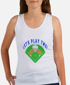 Let's Play Two Baseball Women's Tank Top