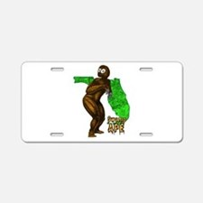 Swamp Ape Aluminum License Plate