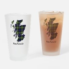 Map-MacKenzie htg grn Drinking Glass