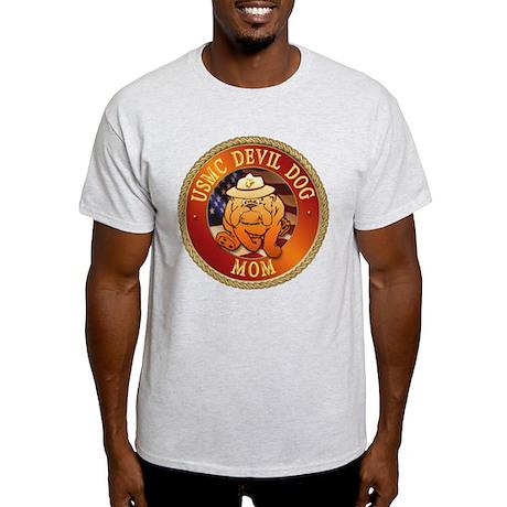 Devil Dog Mom Ash Grey T-Shirt