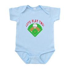 Let's Play Two Baseball Infant Bodysuit