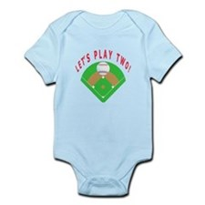 Let's Play Two Baseball Onesie