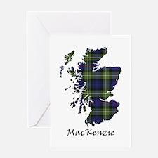 Map-MacKenzie htg grn Greeting Card