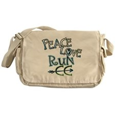 Peace Love Run CC Messenger Bag