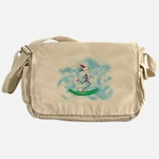 Christmas Holiday Lady Runner Messenger Bag