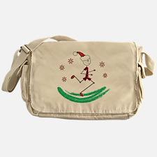 Holiday Runner Guy Messenger Bag