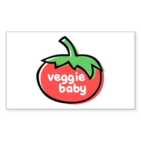 Veggie Baby Sticker (Rectangle)