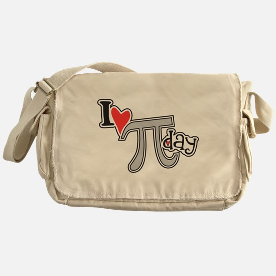 I heart (love) Pi Day Messenger Bag