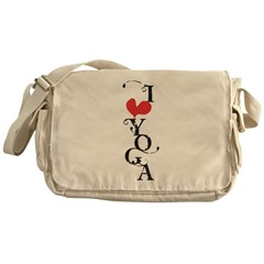 I heart YOGA Messenger Bag