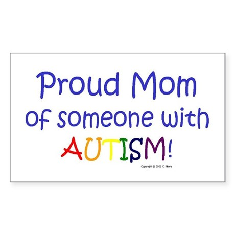 """Proud Mom"" Rectangle Sticker"