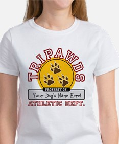 Tripawds Athletic Dept. Women's T-Shirt