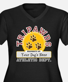 Tripawds Athletic Dept. Women's Plus Size V-Neck D