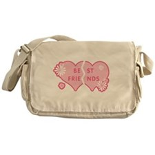 Best Friends Pink Double Hear Messenger Bag