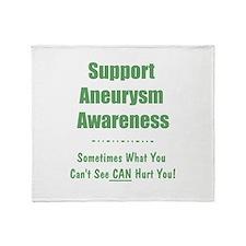 Support Aneurysm Awareness Throw Blanket