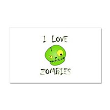 I Love Zombies Car Magnet 20 x 12