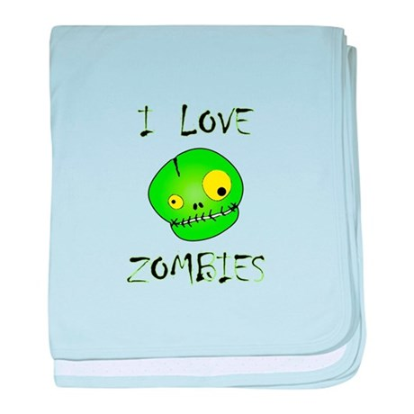 I Love Zombies baby blanket