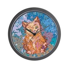 Whiskers the Kitten Wall Clock